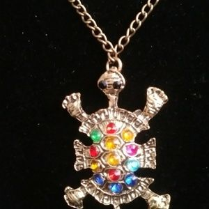 Other - 4/$24 Gold Turtle with multicolored rhinestones